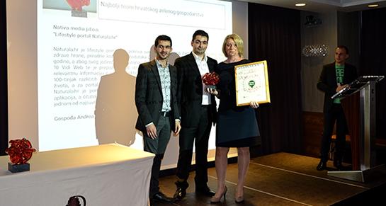Naturali.hr uručena Greenovation nagrada