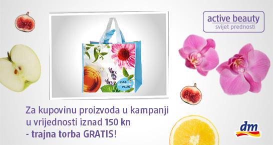 dm te daruje trajnom torbom koja štiti prirodu