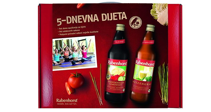 Dijeta Rabenhorst sokovima - 5-dnevni program za tijelo iz snova