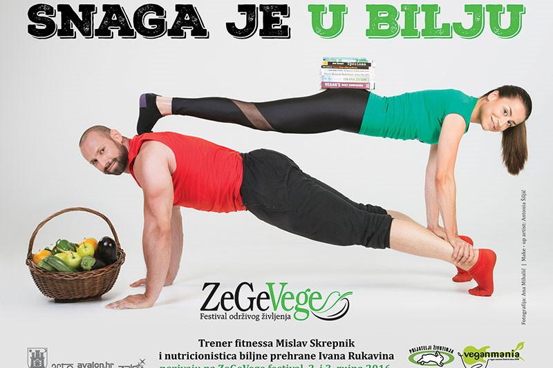 Trener fitnessa Mislav Skrepnik i nutricionistica Ivana Rukavina pozivaju te na 9. ZeGeVege