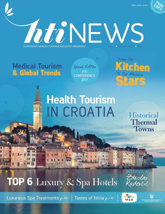 Prvo izdanje časopisa HTI News - European Health Tourism Industry Magazine