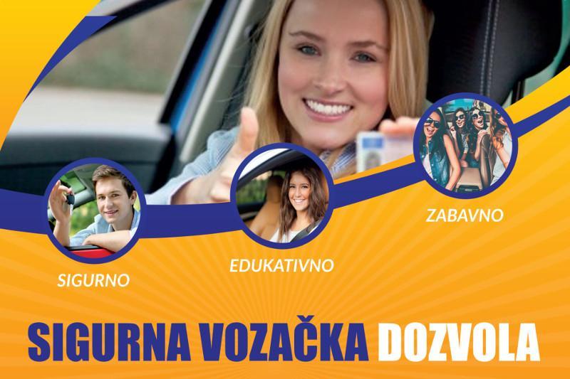 Sigurna vozačka dozvola -  kroz zabavne edukacije do besplatne vozačke dozvole