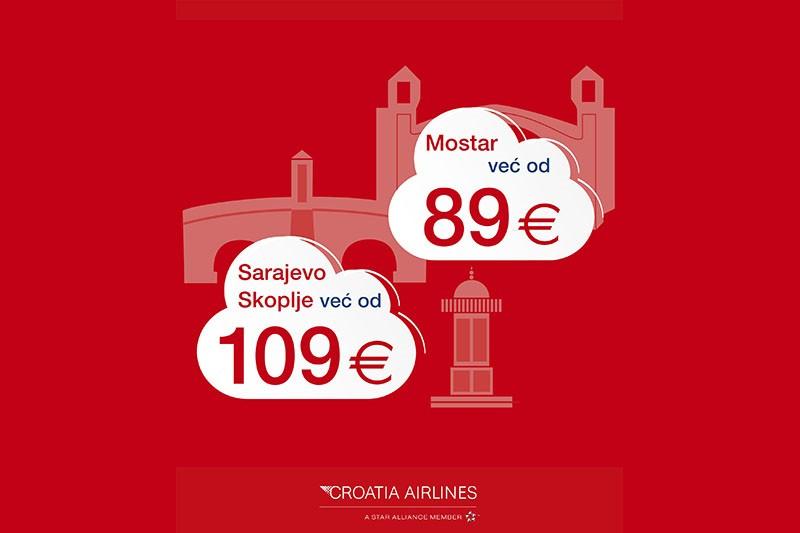 Sarajevo, Mostar i Skoplje na dohvat ruke - uz akciju Croatia Airlinesa