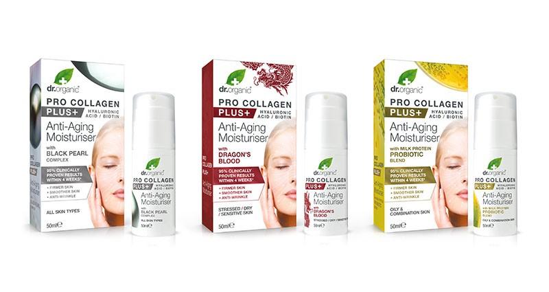 Koža bez bora ne mora biti mit - zahvaljujući Pro Collagen Plus novoj Dr. Organic liniji