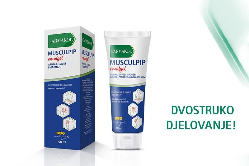 Musculpip - emulgel za opuštanje i regeneriranje vaših mišića