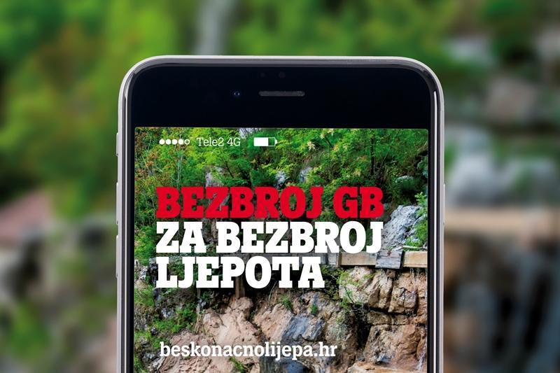 Nagradna igra Tele2 - promovirajte Hrvatsku, otkrijte njezine ljepote i osvojite beskonačne GB