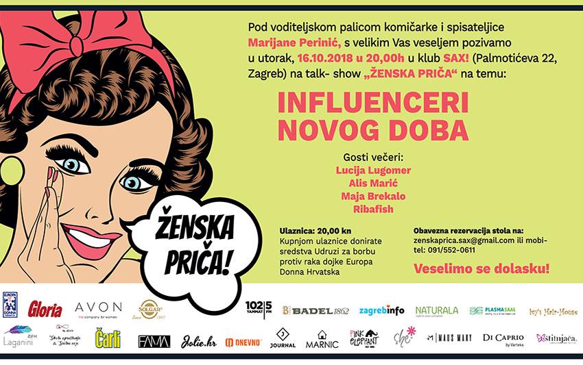 Ribafish, Alis Marić, Lucija Lugomer i Maja Brekalo - influenceri novog doba na još jednom izdanju Ženske priče