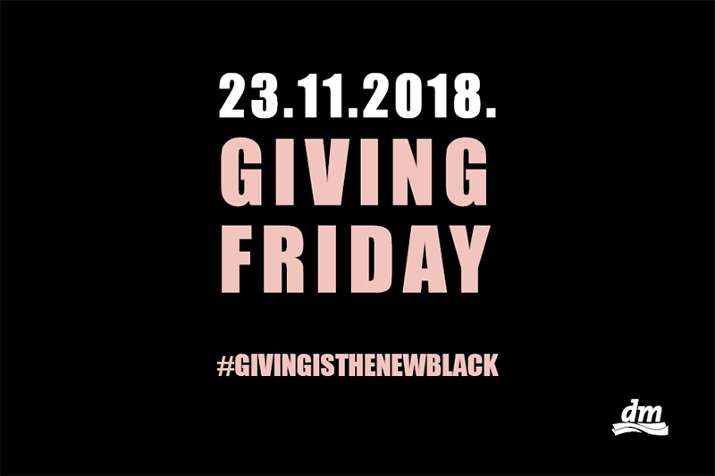 Podrška djeci bez obitelji: U dm-u Black Friday postaje Giving Friday