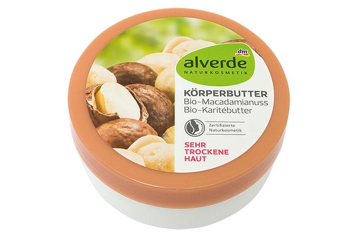 alverde maslac za tijelo od ulja makadamije i karite maslaca je Proizvod godine