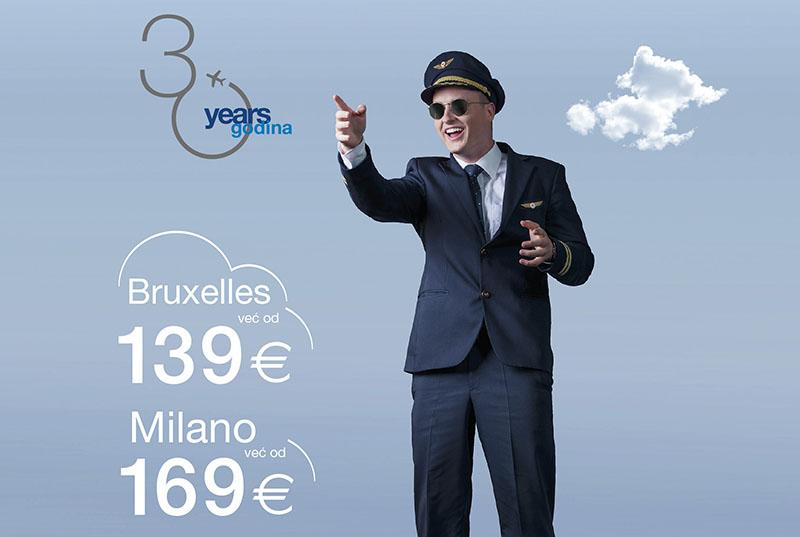 Rođendanska ponuda Croatia Airlinesa - povoljnije u Milano i Bruxelles