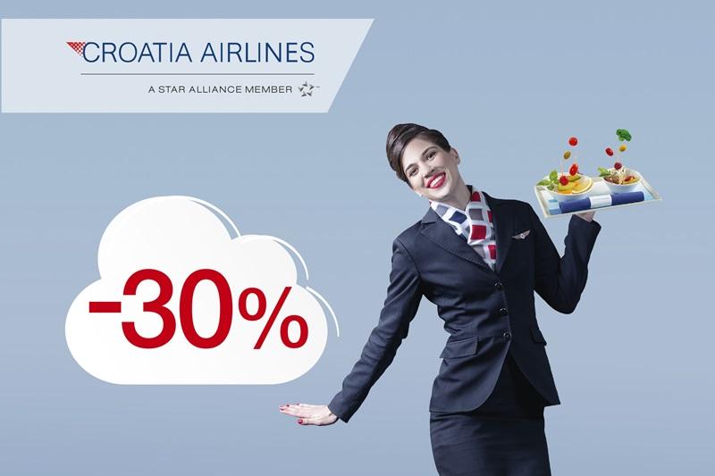 Croatia Airlines slavi 30. rođendan i nagrađuje vas s 30% popusta!