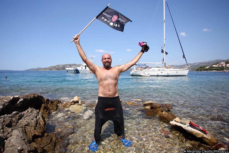 Istinski heroji su među nama – Ribafish je doplivao do Čiova i završio prvu etapu projekta RokOtok
