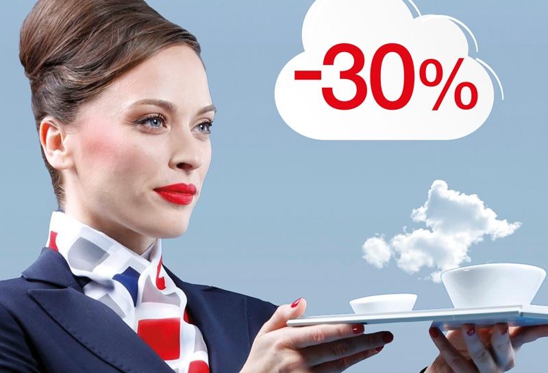 Croatia Airlines te časti s 30 posto popusta