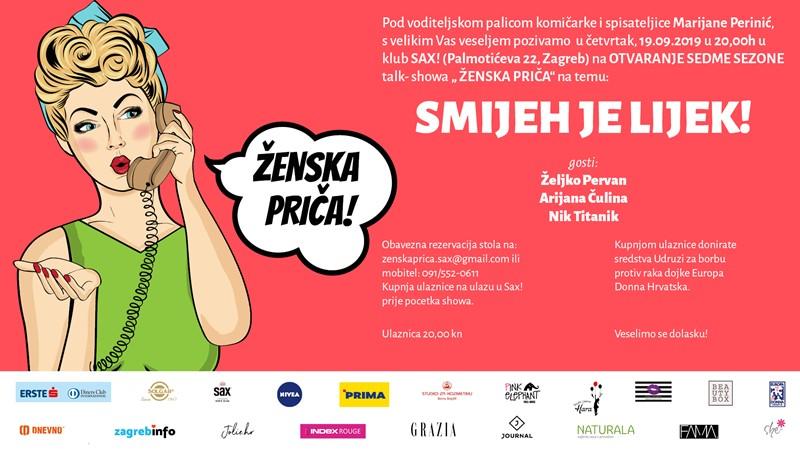 Željko Pervan, Arijana Čulina i Nik Titanik otvaraju sedmu sezonu Ženske priče!