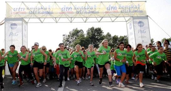 Više od 1000 rekreativki na dm ženskoj utrci